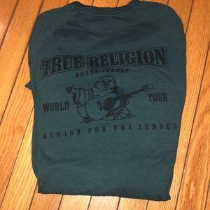 True religion green long sleeve